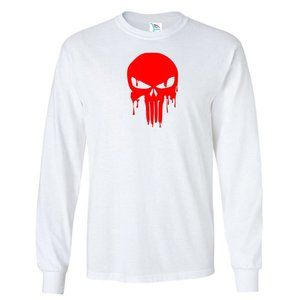 Men's The Punisher Skull T-Shirt Long Sleeve
